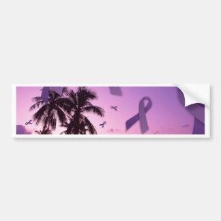 Lupus Awareness Ribbons Float Through the Tropics Bumper Sticker