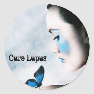 Lupus Awareness Round Sticker