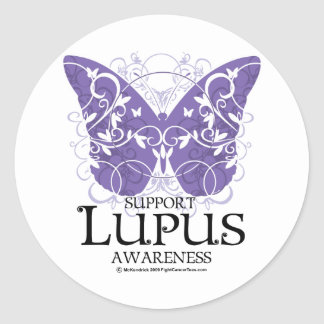 Lupus Butterfly Classic Round Sticker