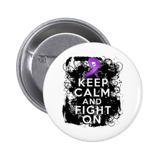 Lupus Keep Calm and Fight On 6 Cm Round Badge