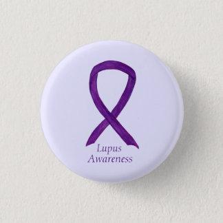 Lupus Purple Awareness Ribbon Custom Art Pin