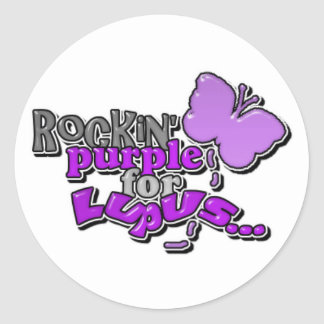 Lupus...Rockin' for a Cure Round Sticker