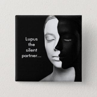 Lupus the silent partner... 15 cm square badge