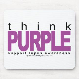 Lupus Think Purple Mouse Pad