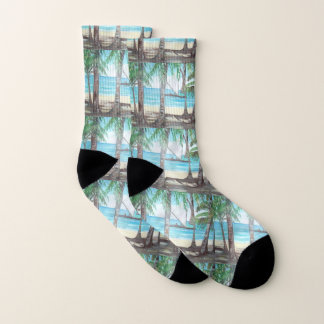Luquillo Beach, Small All-Over-Print Socks 1