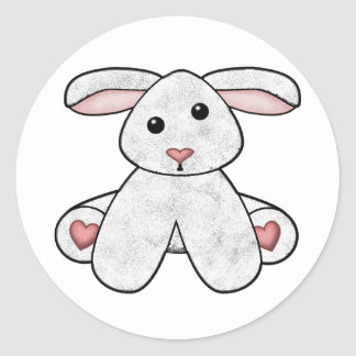 Lura's Stuffed Lamb Classic Round Sticker