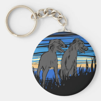 Lurchers overseeing the world key ring