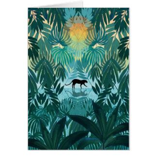 Lurking Jungle Leopard Card