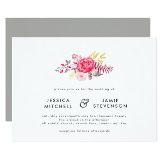 Luscious Botanicals Floral Wedding Invitation