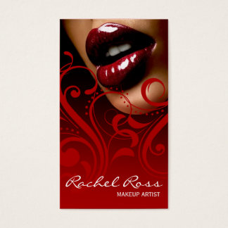 Luscious Glossy Lips Curliques | cardinal red Business Card