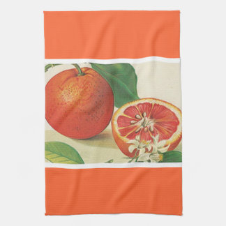 Luscious grapefruit tea towel