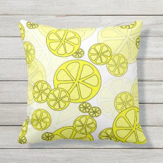 Luscious Lemon Outdoor Pillow