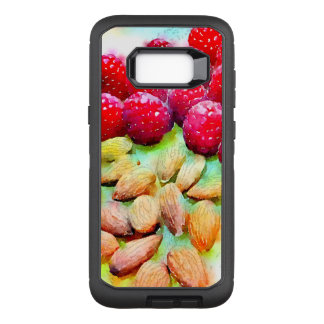 Luscious Raspberries and Almond Watercolor Artwork OtterBox Defender Samsung Galaxy S8+ Case