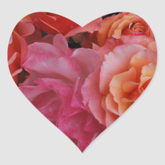 Luscious roses heart sticker