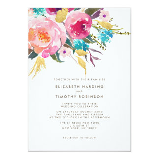 Lush Bouquet Wedding invitation