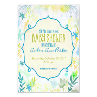 Lush Bud Botanical Baby Shower Invitation
