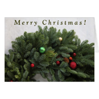 Lush Christmas wreath Card