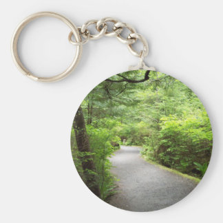 Lush Country Trail Basic Round Button Key Ring