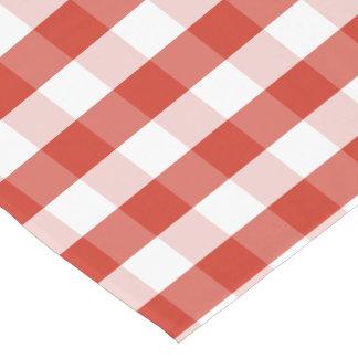 Lush Dahlia Red & White Gingham Check Plaid