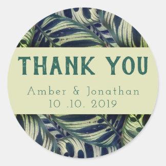 Lush foliage thank you sticker