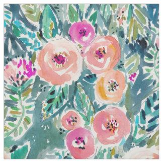 Lush Garden Watercolor Floral Fabric
