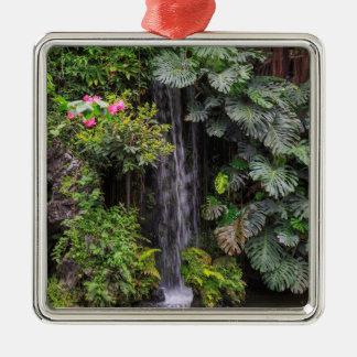 Lush Garden Waterfall, China Metal Ornament