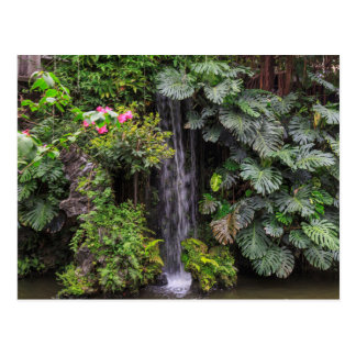 Lush Garden Waterfall, China Postcard