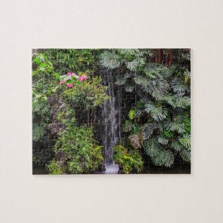 Lush Garden Waterfall, China Puzzle