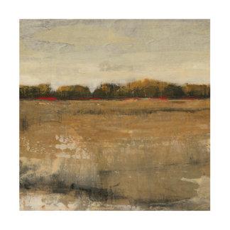 Lush Green Countryside Landscape Wood Print
