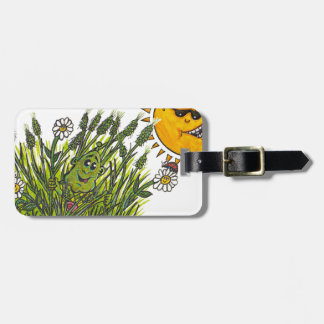 Lush green grasses luggage tag