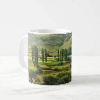 Lush Green Valley Landscape Coffee Mug