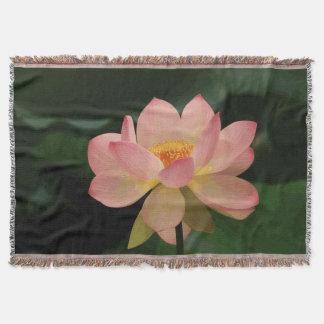 Lush Green Zen Garden Soft Pink Lotus