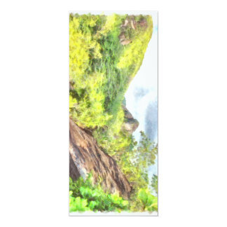 Lush greenery on a hill 10 cm x 24 cm invitation card
