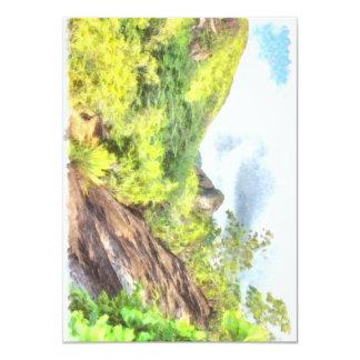 Lush greenery on a hill 11 cm x 16 cm invitation card