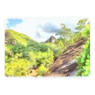 Lush greenery on a hill 13 cm x 18 cm invitation card