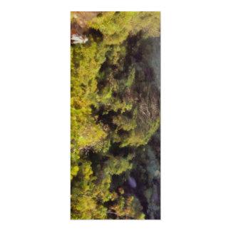 Lush greenery while trekking 10 cm x 24 cm invitation card