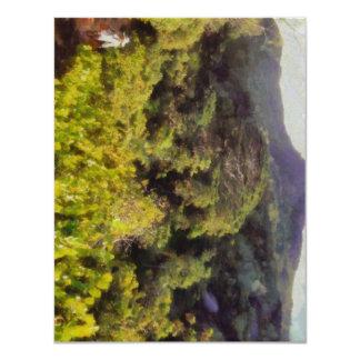 Lush greenery while trekking 11 cm x 14 cm invitation card