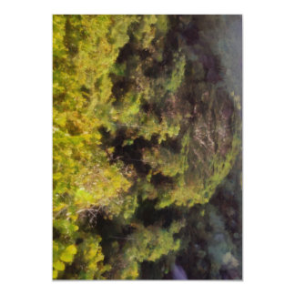 Lush greenery while trekking 13 cm x 18 cm invitation card