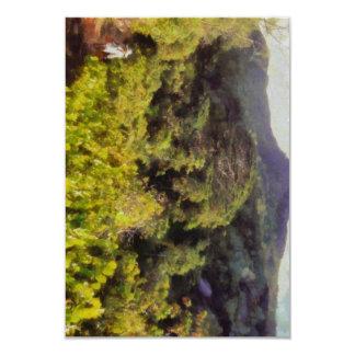 Lush greenery while trekking 9 cm x 13 cm invitation card