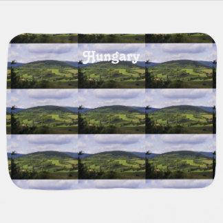 Lush Hungary Landscape Baby Blanket