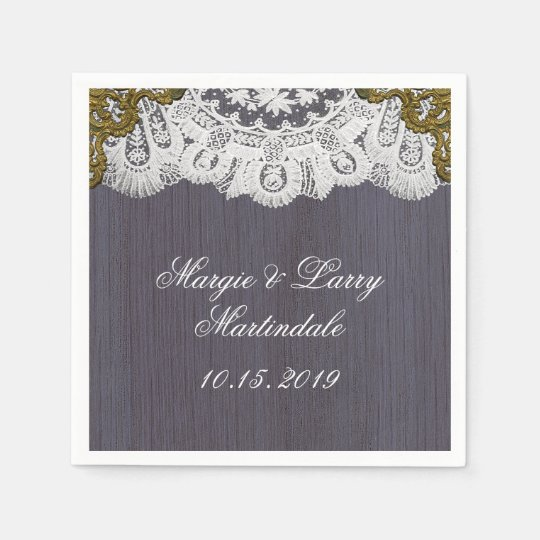 Lush Lace and Vintage Lavender Paper Napkin