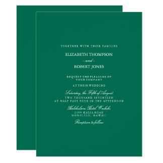 Lush Meadow Green with White Wedding Detail 14 Cm X 19 Cm Invitation Card