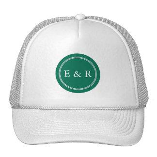 Lush Meadow Green with White Wedding Detail Cap