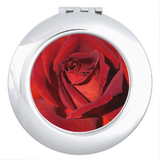 Lush Red Rose Compact Mirror