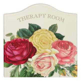 Lush Vintage Floral ID225 Door Sign
