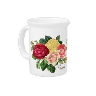 Lush Vintage Floral ID225 Drink Pitcher