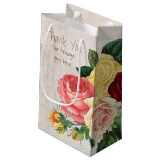 Lush Vintage Floral ID225 Small Gift Bag