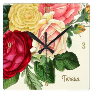 Lush Vintage Floral ID225 Wall Clock