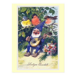 """Lustiges Quartett"" Vintage German Postcard"