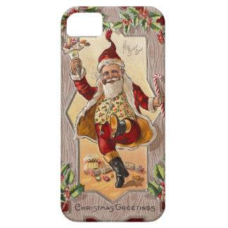 Lustiges tanzendes lustiges Vintages Weihnachten S iPhone 5 Cover